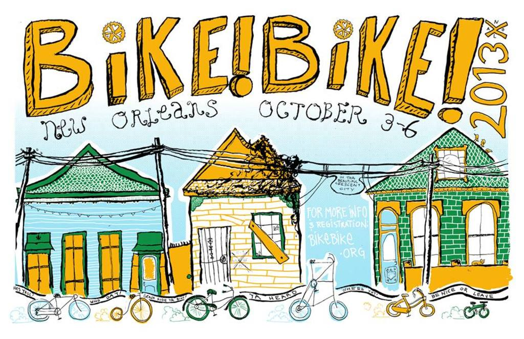Bike!Bike! 2013 - New Orleans póster